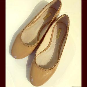 Louise Et Cie Tan Patent Leather Ballet Flats 8.5